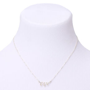 Silver Vine Pendant Necklace,