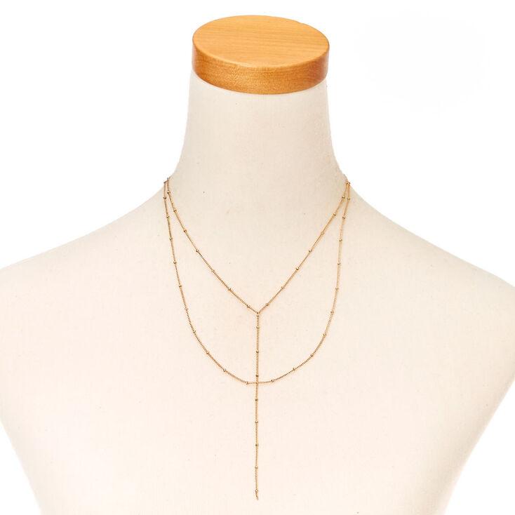 Delicate Gold Tone Y-Necklace,