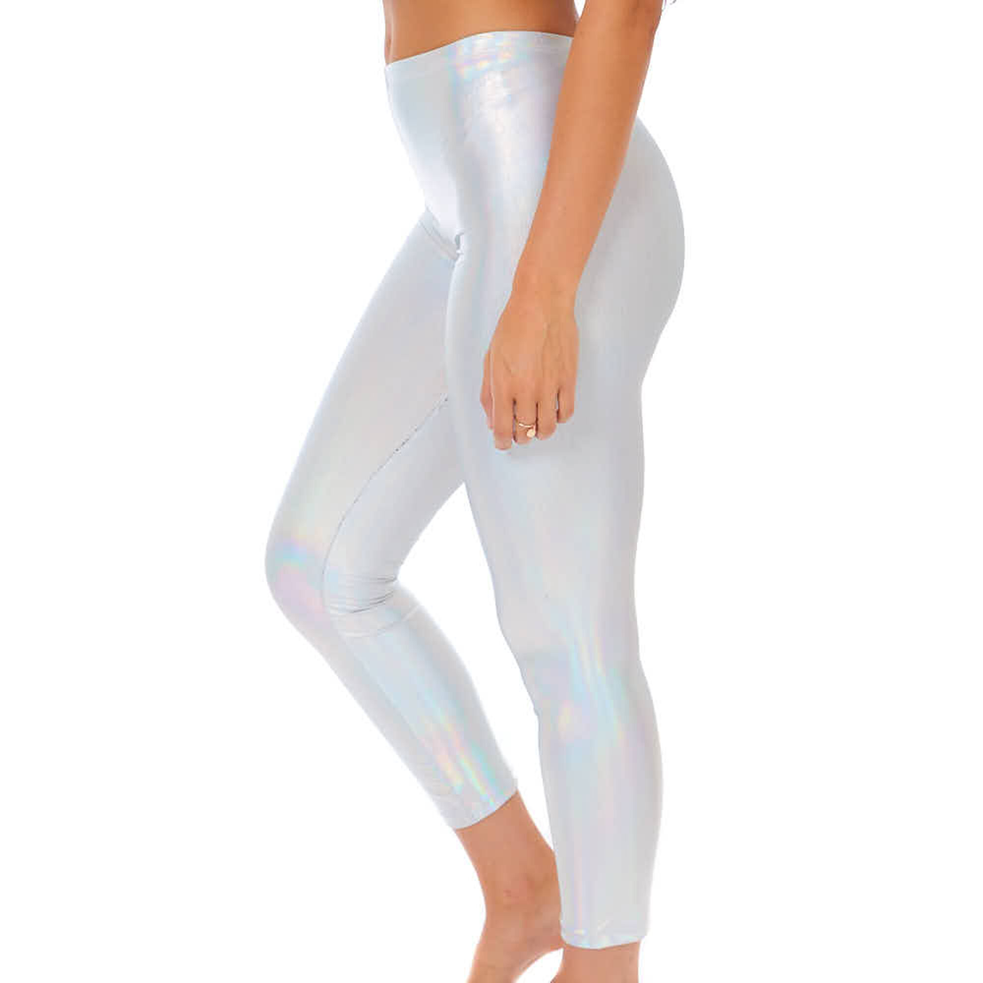 8a990a4fe0827a Holographic Leggings - Silver   Icing US