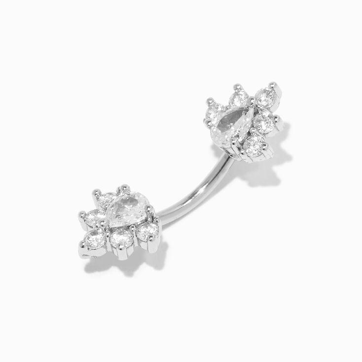 Silver Handcuff Chain Drop Earrings,