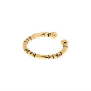 Goldl Tribal Faux Nose Ring,