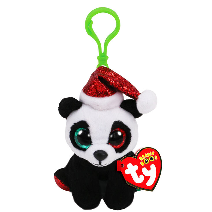 Ty Beanie Boo Pandy Claus the Panda Keyring Clip,