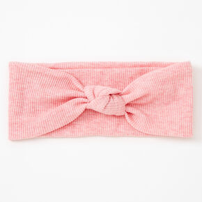 Ribbed Knotted Headwrap - Pink,