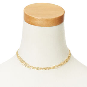 Gold Chains Choker Necklace,