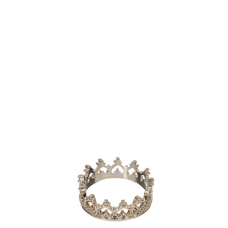 Silver-Tone Crown Ring | Icing US