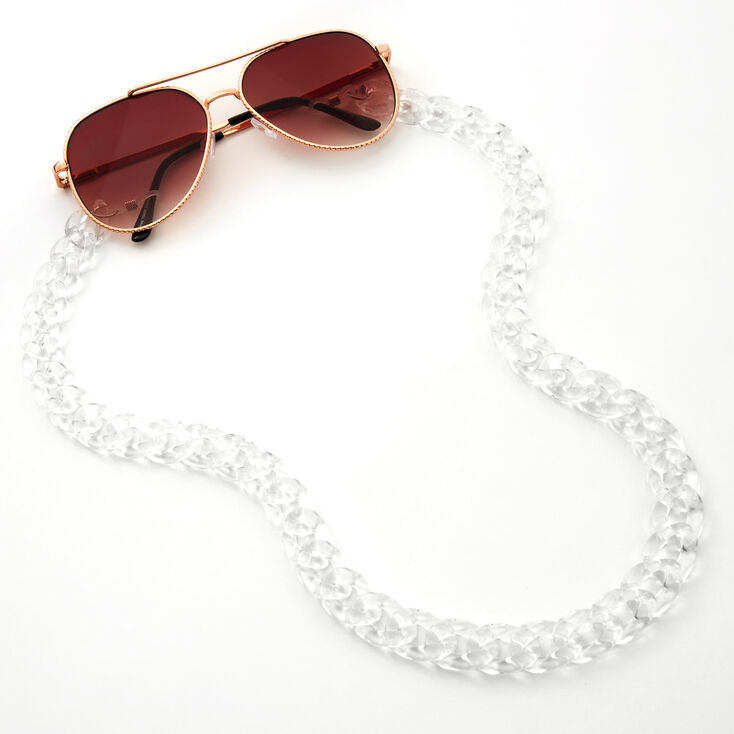 Clear Acrylic Sunglasses Chain,