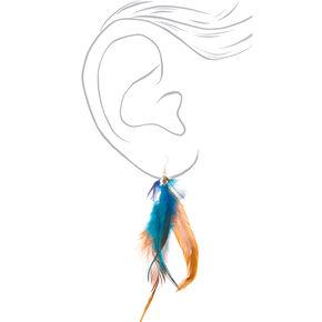 """5"""" Elemental Feather Drop Earrings,"""