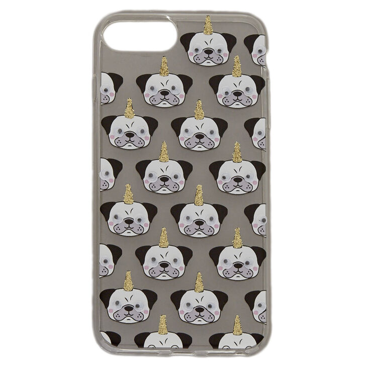 Clear Pugicorn Phone Case - Fits iPhone 6/7/8 Plus,