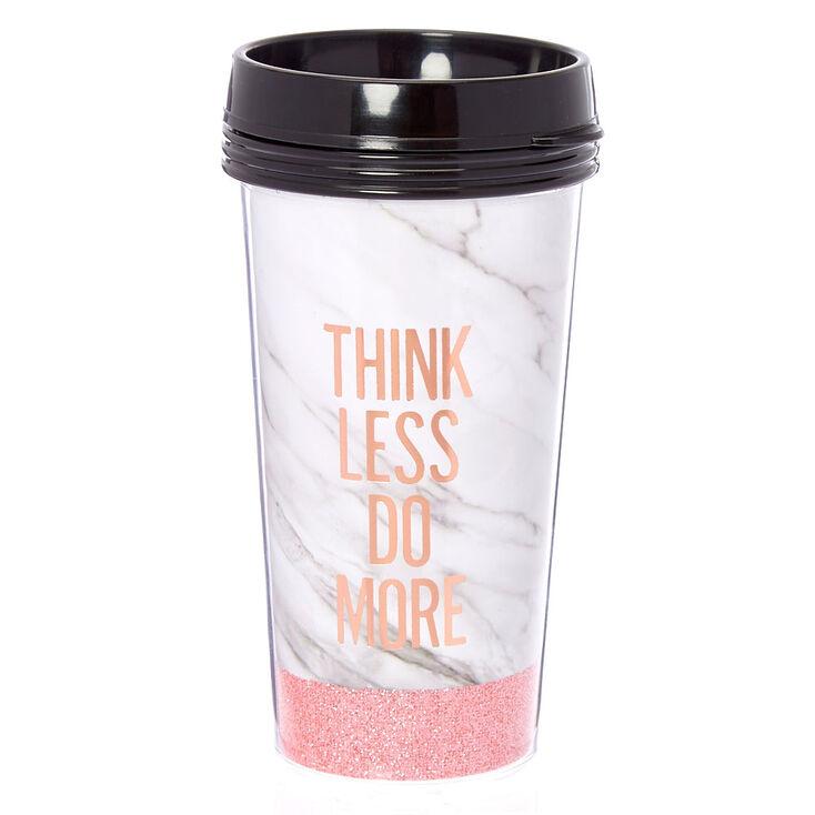 Think More Marble Travel Mug,