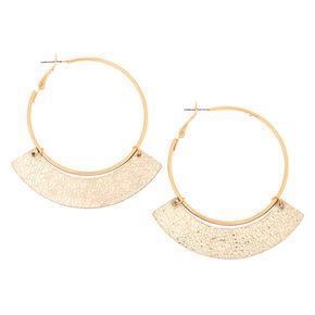 Gold 50MM Metallic Hoop Earrings,