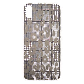 Houndstooth Leopard Phone Case - Fits iPhone XS Max,