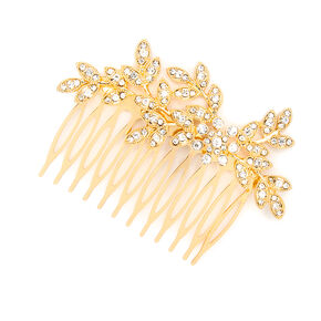 Crystal Leaves & Flower Hair Comb,