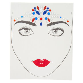 Patriotic Face Gems,
