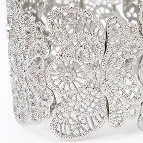Silver Filigree Mega Stretch Bracelet,