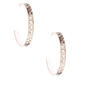 40MM Snakeskin Hoop Earrings,