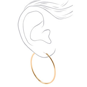 Gold Medium Graduated Hoop Earrings - 3 Pack,