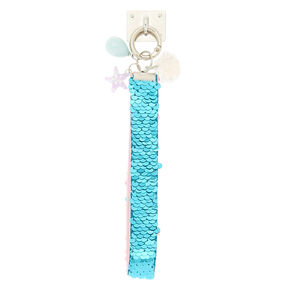 Mermaid Reverse Sequin Phone Wrist Strap - Turquoise,