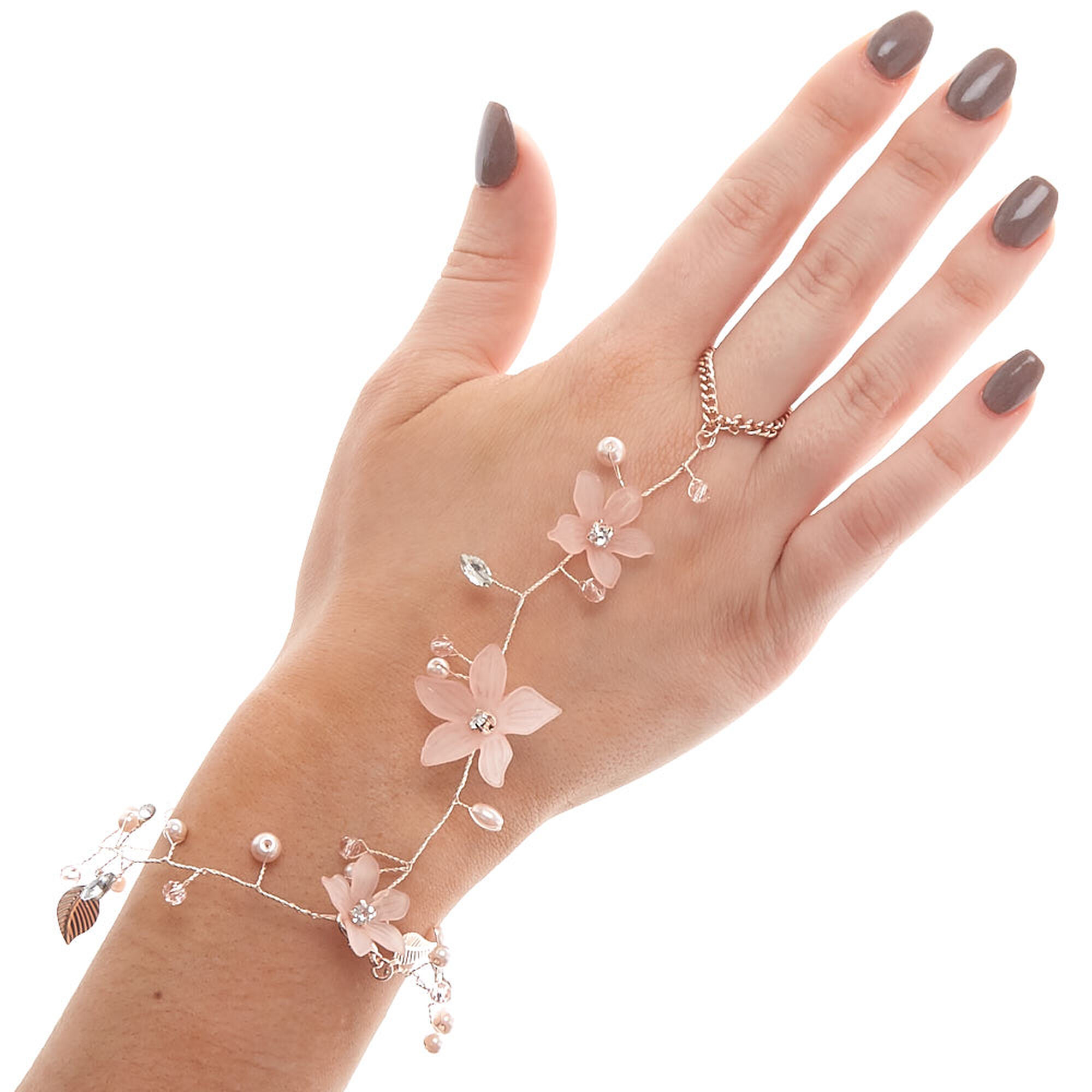 Rose Gold Filled Hand Chain Hand Flower Hand Jewelry