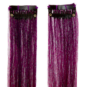 Sunset Pink Faux Hair Clip In Extensions - 2 Pack,