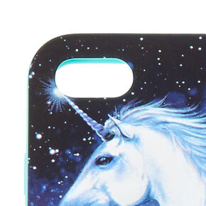 Blue 3D Silicone Unicorn Phone Case - Fits iPhone 6/7/8/SE,
