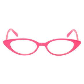 Cat Eye Clear Lens Frames - Pink,
