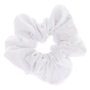 Velvet Hair Scrunchie - White,