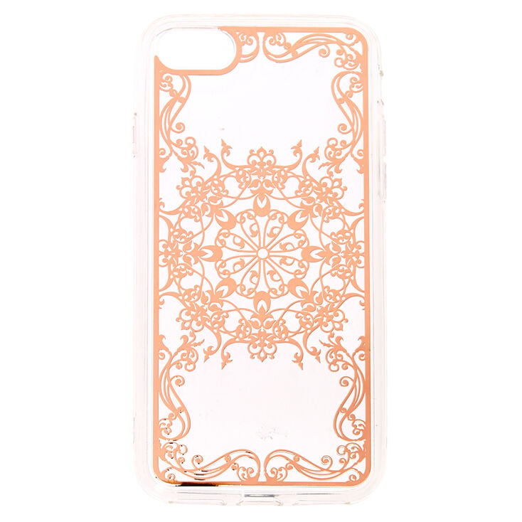 Rose Gold Filigree Phone Case,