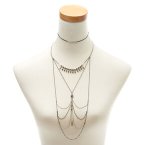 Mixed Metal Western Choker Jewelry Set,