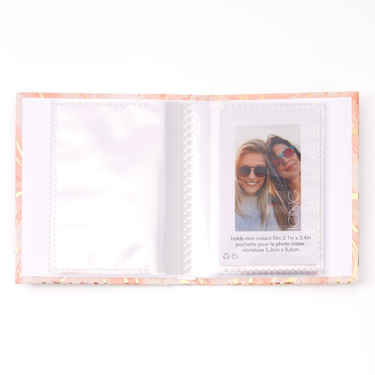 Pretty Little Pictures Marble Instax Photo Album - Pink,