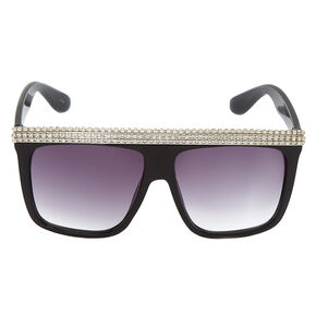 Diamond Brow Sunglasses - Black,