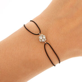 Black Stretch Bracelet with Fireball Charm,