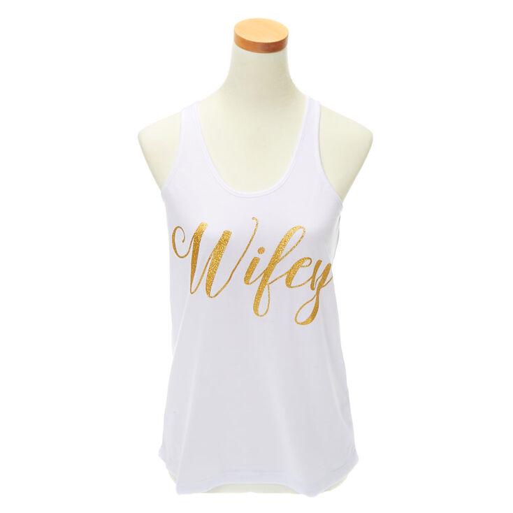 Wifey Tank Top - White,