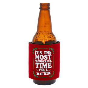 Most Wonderful Time For A Beer Slap Koozie - Red,