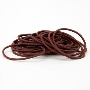Luxe Hair Ties - Brown, 30 Pack,