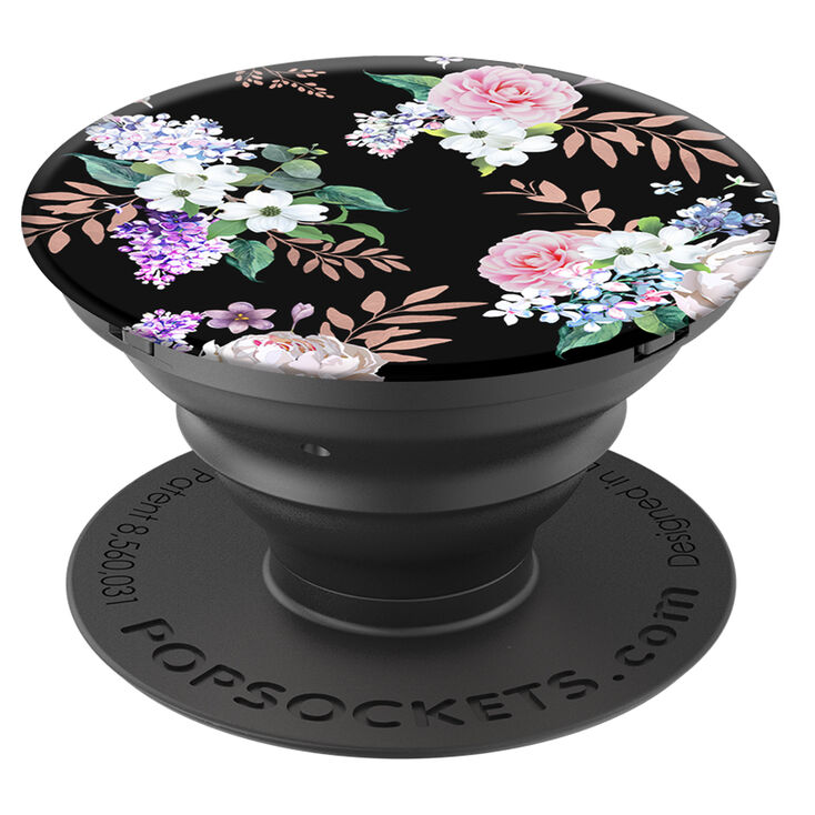 PopSockets PopGrip - Black Floral,