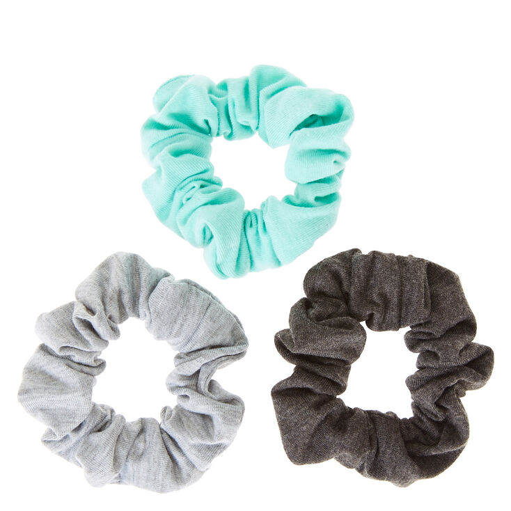 Gray & Mint Hair Scrunchies,