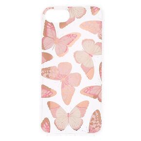 Rose Gold Butterfly Phone Case - Fits iPhone 6/7/8,