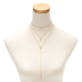 Gold Marble Choker Necklaces - 3 Pack,