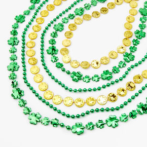 Lucky Coins Shamrock Necklace - Green,