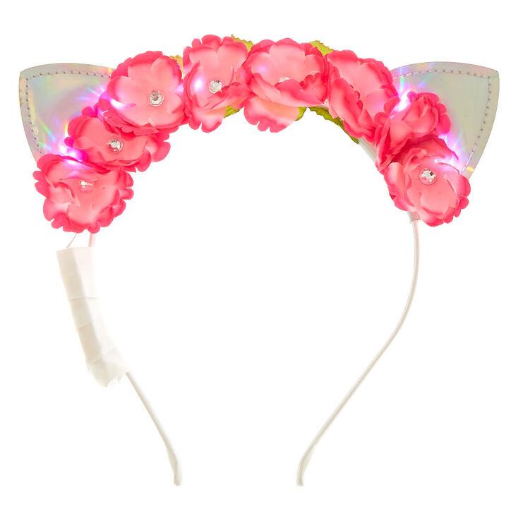 Pink Holographic Light Up Headband,