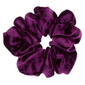 Velvet Hair Scrunchie - Purple,