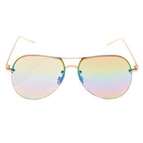 Rainbow Tinted Aviator Sunglasses,