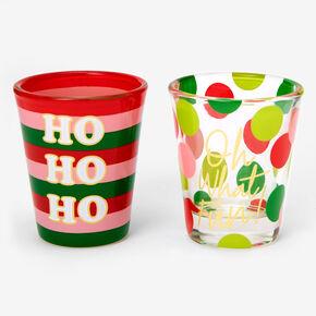 Christmas Shot Glasses - 2 Pack,