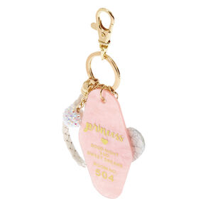 Marbled Princess Keychain - Pink,