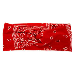 Bandana Twisted Headwrap - Red,