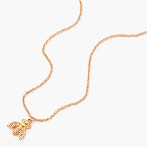 Gold Bumblebee Pendant Necklace,