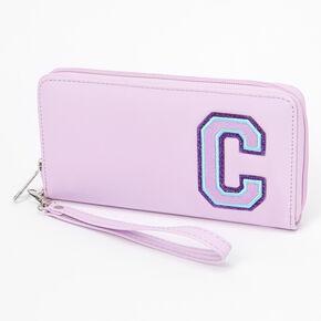 Pink Varsity Initial Wristlet - C,