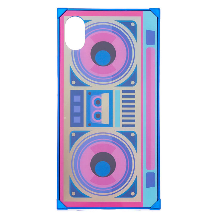 Holographic Retro Boombox Phone Case - Fits iPhone XR,