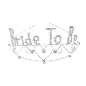 Rhinestone Bride to Be Tiara,