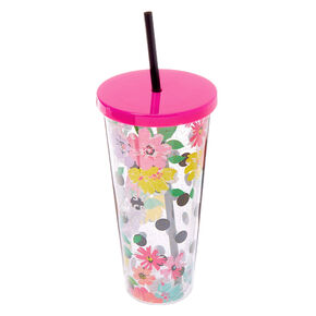 Sassy Since Birth Floral Tumbler Cup - Pink,
